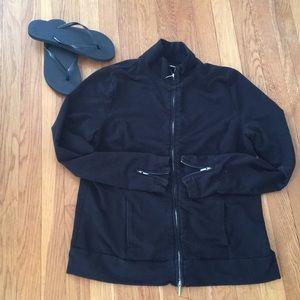 Tops - Jacket size medium full zip and zipper sleeves